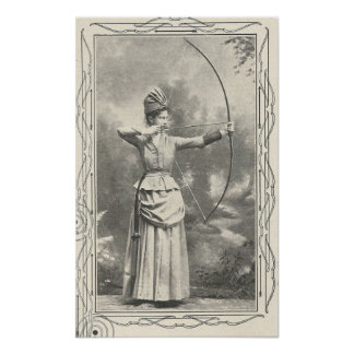 1904 Female Archery Champion Poster