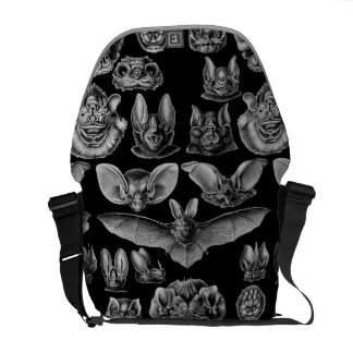 1904 Haeckel Chiroptera Messenger Bag