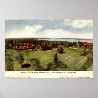 1904 Vintage Lake Geneva, Wisconsin Poster