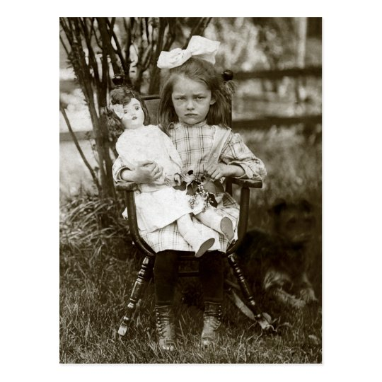 1905 Cranky Girl Postcard