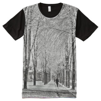 1905 - Detroit in a canopy of Winter All-Over-Print T-Shirt