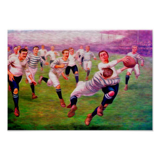 1905 Oxford Cambridge Rugby - Art Print