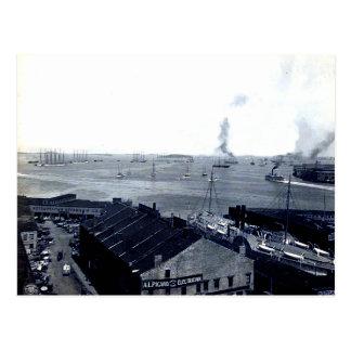 1906 Boston Harbor Postcard