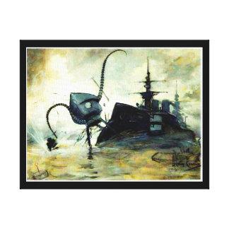 1906 Martian Invasion Canvas Print
