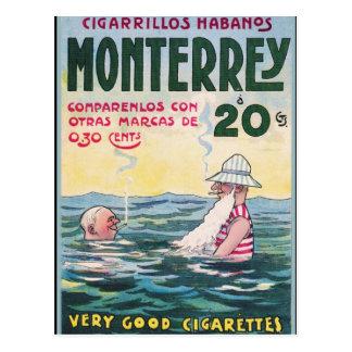 1906 Vintage Monetrrey Cigar Advertisement Postcard