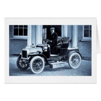 1907 Automobile Car Driver Motorist Vintage Card