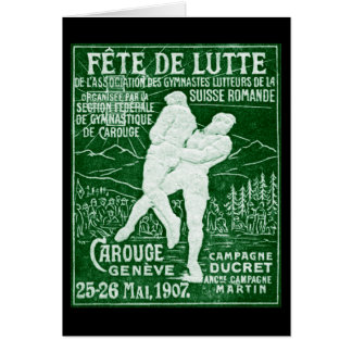 1907 Swiss Wrestling Card