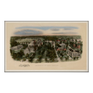 1907 View of the University of North Carolina Poster