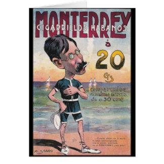 1907 Vintage Monetrrey Cigar Advertisement Card