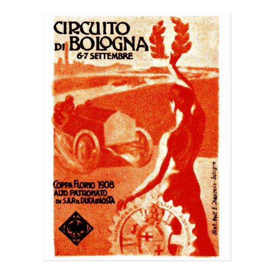 1908 Italian Auto Racing Postcard