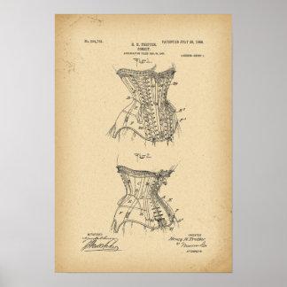 1908 Patent Corset Poster