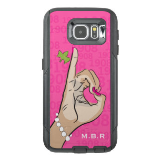 1908 Real Pretty pink and green love OtterBox Samsung Galaxy S6 Case