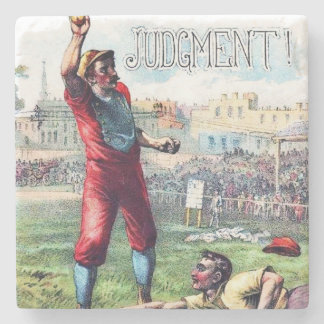 1909 Cigar Label Image,Judgment, Baseball, Coaster