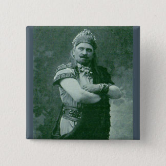 1909 crazy French opera singer 2 Inch Square Button