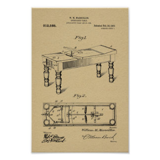 1909 Vintage Osteopathic Table Patent Art Print