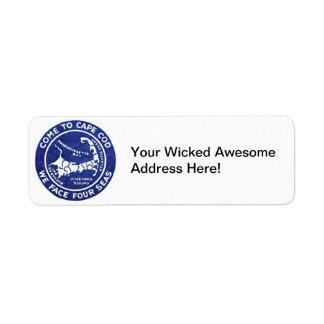 1910 Cape Cod Return Address Label