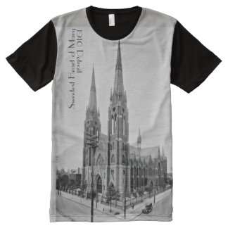 1910 Detroit featuring Sweetest Heart of Mary All-Over-Print T-Shirt