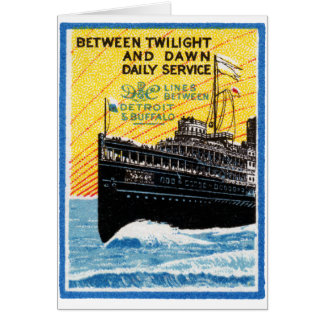 1910 Detroit to Buffalo Steamship Card