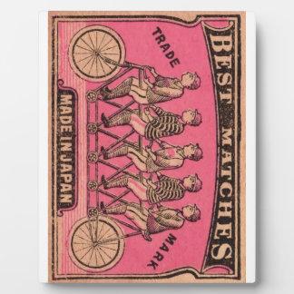 1910 Japanese Tandem Bicycle Matchbox Label Plaque