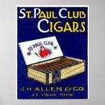 1910 St. Paul Club Cigars Poster