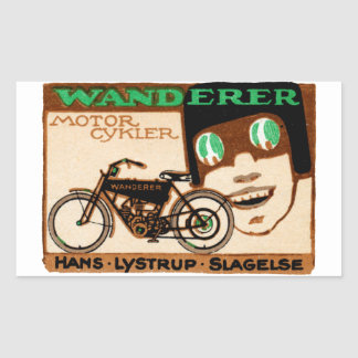 1910 Wanderer Motorcycle Poster Sticker