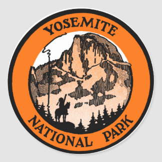 1910 Yosemite National Park Classic Round Sticker