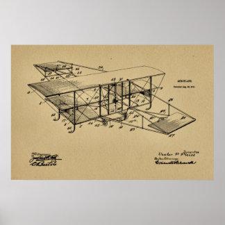 1911 Aeroplane Airplane Patent Art Drawing Print