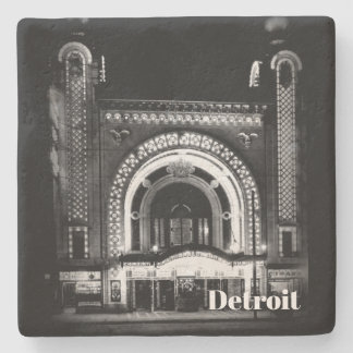1911 - Detroit National Theatre Stone Coaster