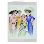 1911 Vintage Fashion Card