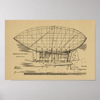 1912 Boat Airship Balloon Patent Art Drawing Print