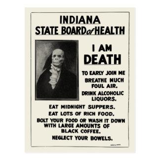 1912 Indiana Health Bulletin Postcard