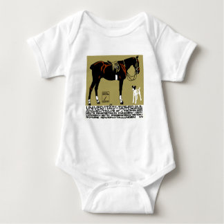 1912 Ludwig Hohlwein Horse Riding Poster Art Baby Bodysuit