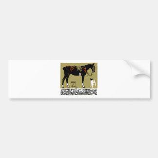 1912 Ludwig Hohlwein Horse Riding Poster Art Bumper Sticker