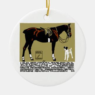 1912 Ludwig Hohlwein Horse Riding Poster Art Ceramic Ornament