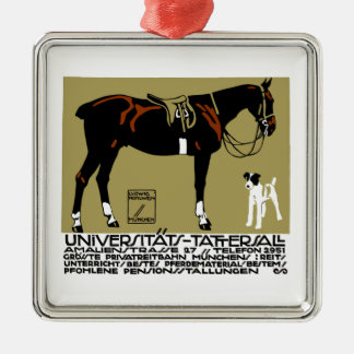 1912 Ludwig Hohlwein Horse Riding Poster Art Metal Ornament