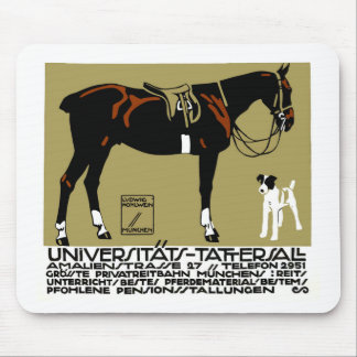 1912 Ludwig Hohlwein Horse Riding Poster Art Mouse Pad