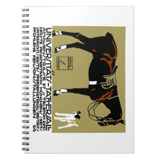 1912 Ludwig Hohlwein Horse Riding Poster Art Notebooks
