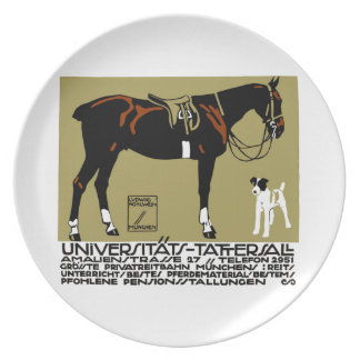 1912 Ludwig Hohlwein Horse Riding Poster Art Plates
