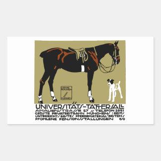 1912 Ludwig Hohlwein Horse Riding Poster Art Sticker