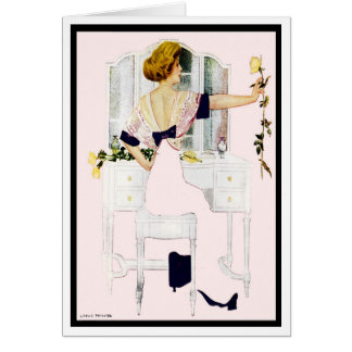 "1912!! ""ROMANCE & ROSES"" FADE-AWAY COLES PHILLIPS CARD"