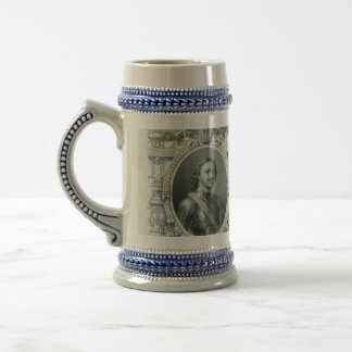 1912 Russian Empire 500 rubles bill with Tzar Pete Beer Stein