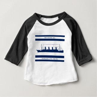 1912 Titanic blue stripe 5 Baby T-Shirt
