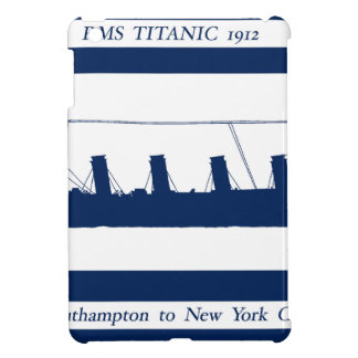 1912 Titanic blue stripe 5 Case For The iPad Mini
