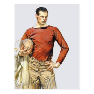 1913 Football Player Postcard