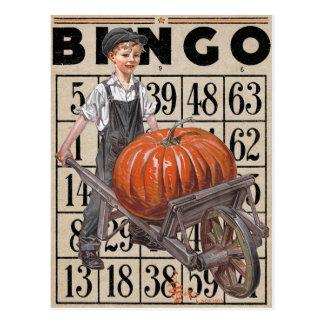 "1913! ""HAPPY PUMPKIN PIE"" BINGO CARD COLLAGE POSTCARD"