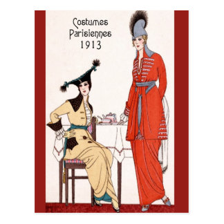 1913 Parisian Fashion Postcard