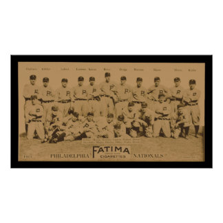 1913 Philadelphia Philles Tobacco Card Poster