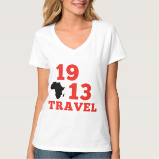 1913 Travels V Neck T-Shirt