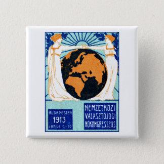 1913 Womans Right to Vote 2 Inch Square Button
