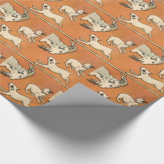 1914 billygoat and dogs wrapping paper